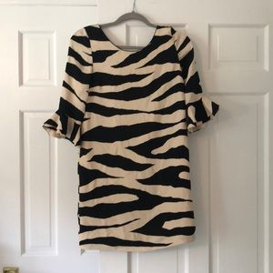 Kate spade zebra print dress
